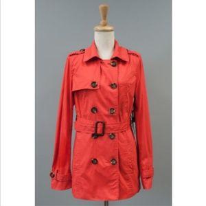 Women's Coral Coat Lightweight Jacket Peacoat